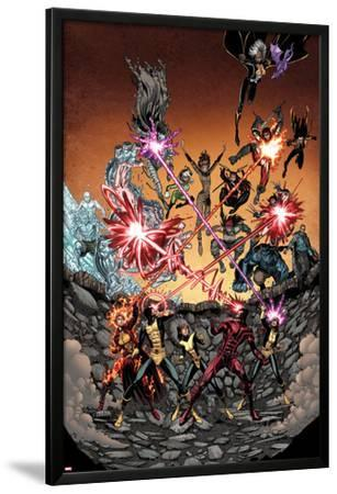 Wolverine and the X-Men #36 Cover: Iceman, Grey, Jean, Summers, Rachel, Pryde, Kitty, Cyclops by Arthur Adams