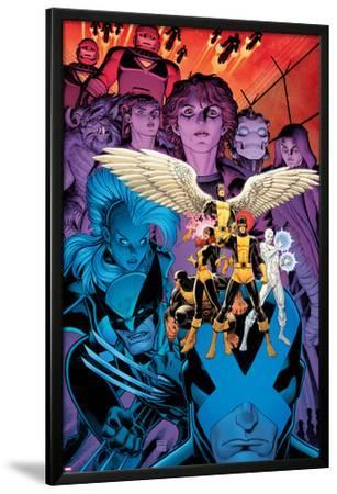X-Men: Battle of the Atom #1 Cover: Jean, Iceman, Beast, Angel, Wolverine, Storm, Hayes, Molly
