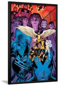 X-Men: Battle of the Atom #1 Cover: Jean, Iceman, Beast, Angel, Wolverine, Storm, Hayes, Molly by Arthur Adams