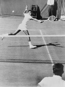 Arthur Ashe, Playing Tennis at Forest Hills, N.Y. in 1964