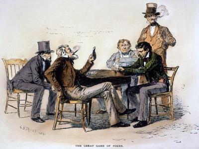 Poker Game, 1840s by Arthur Burdett Frost