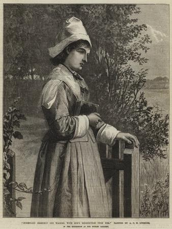 Homeward Serenely She Walked, with God's Benediction Upon Her
