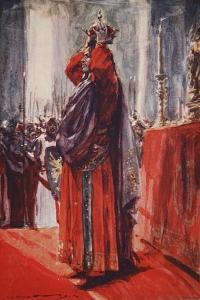 He Reached the Altar Where the Crown Lay: Lifting it He Placed it Upon His Head by Arthur C. Michael