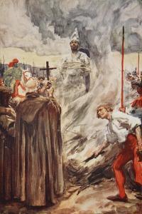 The Burning of John Huss on July 6th 1415 by Arthur C. Michael