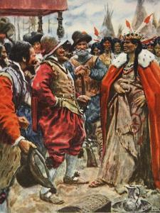 The Crowning of Powhatan by Arthur C. Michael