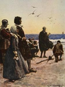 The Departure of the Mayflower by Arthur C. Michael