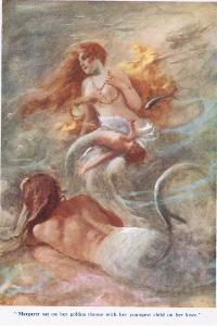 The Forsaken Merman, Illustration from 'Stories from the Poets' by Arthur C. Michael