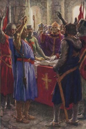 The Oath of the English Barons, 1214