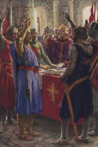 The Oath of the English Barons, 1214 by Arthur C. Michael