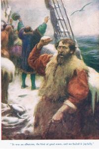 The Rime of the Ancient Mariner, Illustration from 'Stories from the Poets' by Arthur C. Michael
