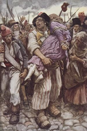 The Scarlet Pimpernel to the Rescue, Illustration for 'The Scarlet Pimpernel' by Baroness Orczy