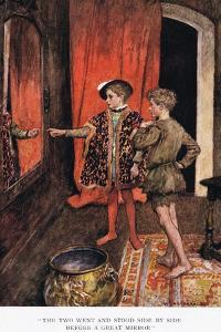 The Two Went and Stood Side by Side before a Great Mirror', 1923 by Arthur C. Michael
