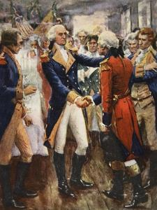 Washington Taking Leave of His Officers by Arthur C. Michael