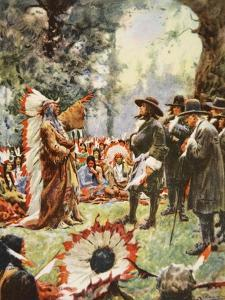 William Penn's Treaty with the Indians by Arthur C. Michael