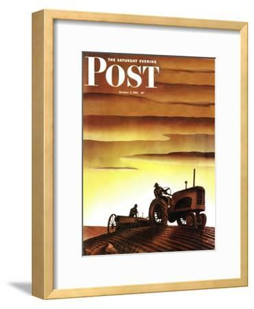 """Tractors at Sunset,"" Saturday Evening Post Cover, October 3, 1942"