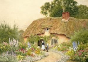 A Devon Cottage by Arthur Claude Strachan