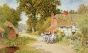 A Warwickshire Lane by Arthur Claude Strachan