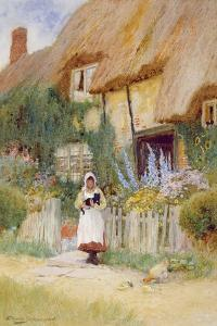 By the Cottage Gate by Arthur Claude Strachan