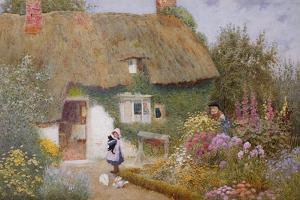 Feeding the Pigeons by Arthur Claude Strachan