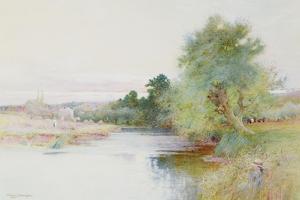 Haymaking Near Marlow by Arthur Claude Strachan