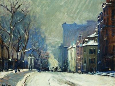Beacon Street in Winter by Arthur Clifton Goodwin