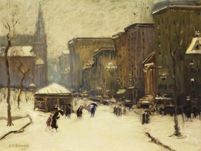 Park Street Church in Snow, 1913