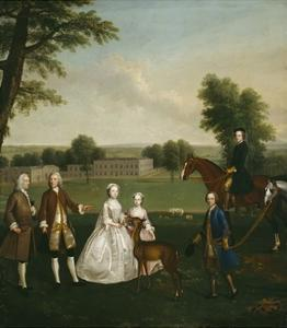 Thomas Lister and Family at Gisburne Park, 1740-41 by Arthur Devis