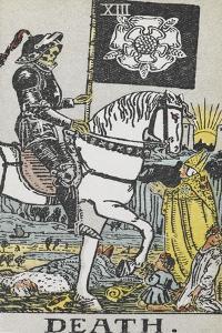 Tarot Card With Death Wearing Armor by Arthur Edward Waite