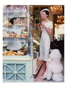 Vogue - March 1999 - At the Patisserie by Arthur Elgort