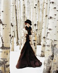 Vogue - October 1999 - Winter Among the Trees by Arthur Elgort