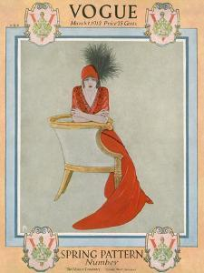Vogue Cover - March 1912 by Arthur Finley