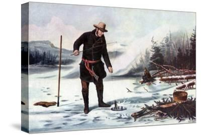 Trout Fishing on Chateaugay Lake, American Winter Sports, 1856