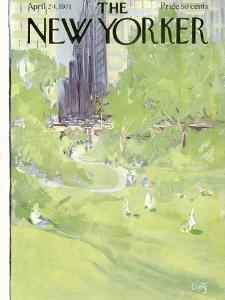 The New Yorker Cover - April 24, 1971 by Arthur Getz