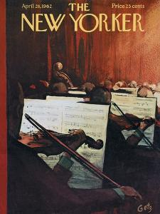 The New Yorker Cover - April 28, 1962 by Arthur Getz