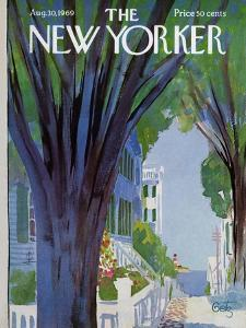 The New Yorker Cover - August 30, 1969 by Arthur Getz