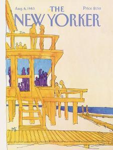 The New Yorker Cover - August 8, 1983 by Arthur Getz