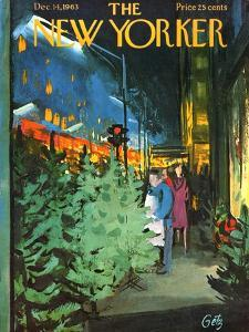 The New Yorker Cover - December 14, 1963 by Arthur Getz