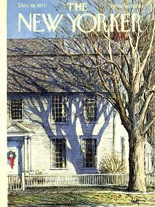 The New Yorker Cover - December 18, 1971 by Arthur Getz