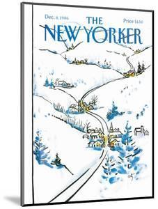 The New Yorker Cover - December 8, 1986 by Arthur Getz