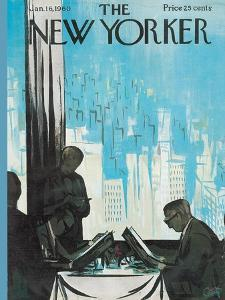 The New Yorker Cover - January 16, 1960 by Arthur Getz