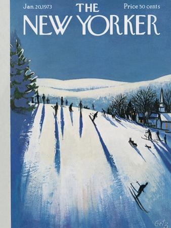 The New Yorker Cover - January 20, 1973 by Arthur Getz