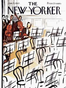 The New Yorker Cover - January 23, 1965 by Arthur Getz