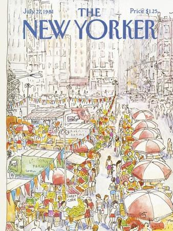 The New Yorker Cover - July 27, 1981 by Arthur Getz