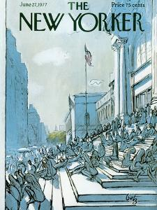 The New Yorker Cover - June 27, 1977 by Arthur Getz