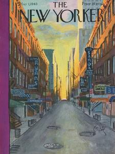 The New Yorker Cover - May 1, 1948 by Arthur Getz