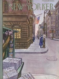 The New Yorker Cover - November 1, 1952 by Arthur Getz