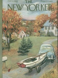 The New Yorker Cover - October 11, 1958 by Arthur Getz