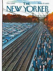The New Yorker Cover - October 7, 1967 by Arthur Getz