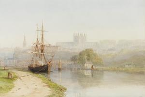 Exeter Canal Below Exeter Cathedral, 1890-1900 by Arthur Henry Enock