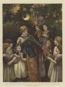 Fruit from the Christmas Tree, a Sketch at the Foundling Hospital, Guildford Street by Arthur Hopkins